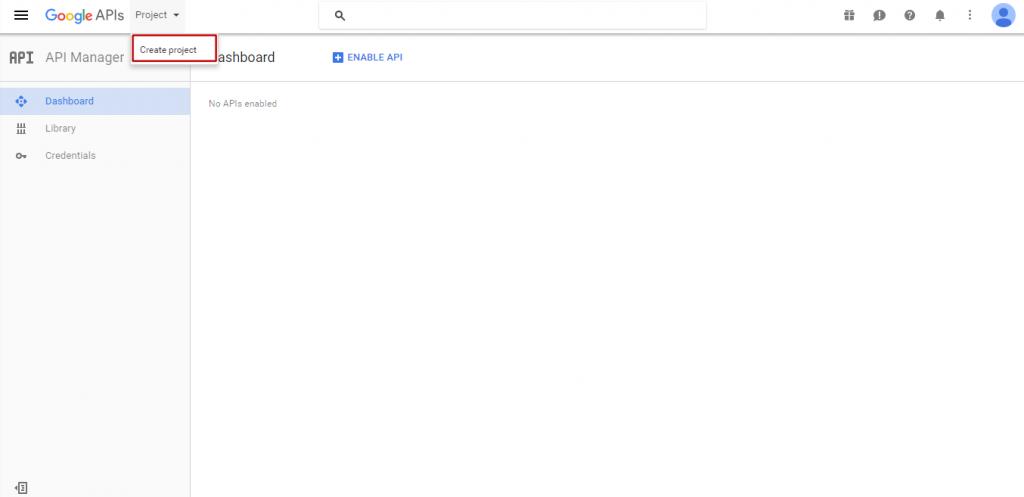Obtain Google API Key For Youtube