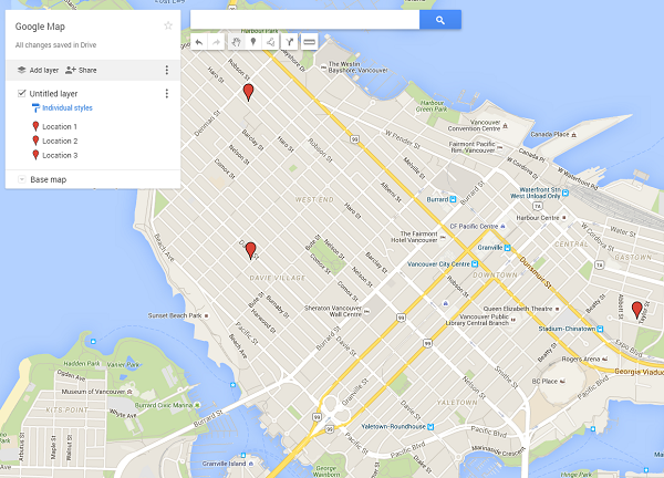 Add A Google Location Map With Multiple Places BuzAppsnet - Map to add multiple locations