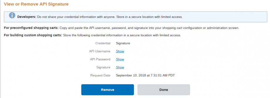 how to get api username and password in paypal