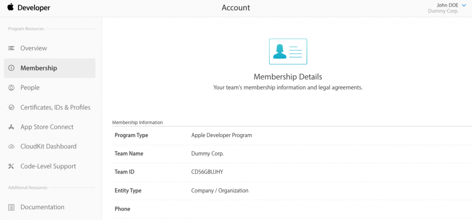 How do I find my Team ID, Name & Provider in my Apple Developer Account?